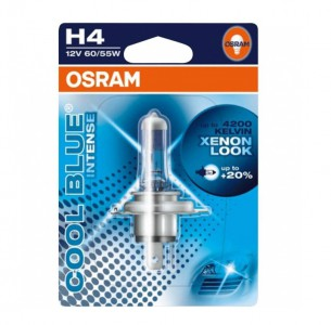 Автолампа  H4  12V 60/55W (P43t-38) COOL BLUE intens 64193CBI-01B OSRAM