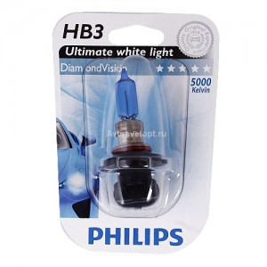 Автолампа HB3/9005 12V 65W (P20d) Diamond Vision 9005 DV B1 PHILIPS